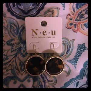 Tortoise and gold earrings